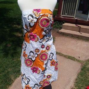Torrid Floral Halter Top Dress 18 Floral Orange